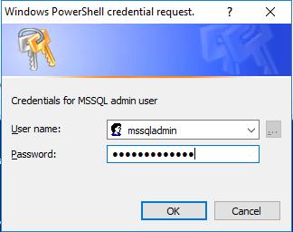mssqladmin credentials