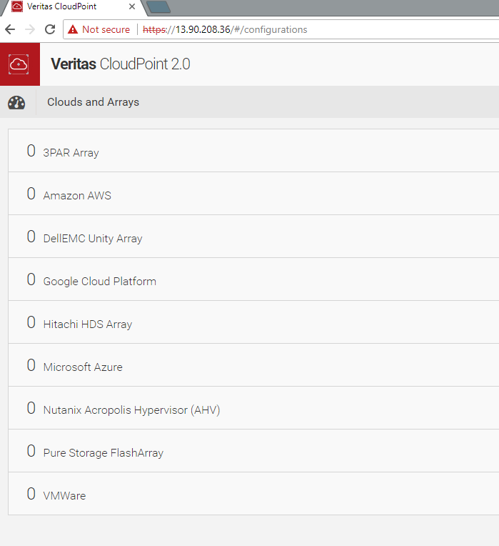 Machine generated alternative text: Veritas CloudPoint